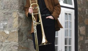 Alain Trudel Trombone Brick Wall