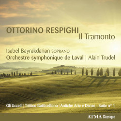 Tramonto, music of Respighi